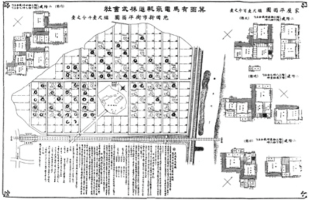 Original plan for the Ikeda Muromachi housing development